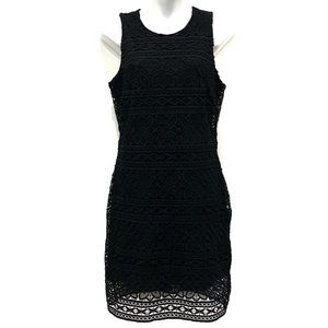 Altar'd State Crocheted Lace Overlay Sheath Dress